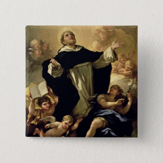 St. Dominic, 1170-1221 Button