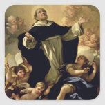 St Dominic, 1170-1221 Pegatina Cuadrada