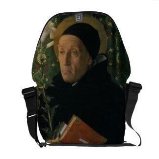 St. Dominic, 1515 (oil on canvas) Messenger Bag
