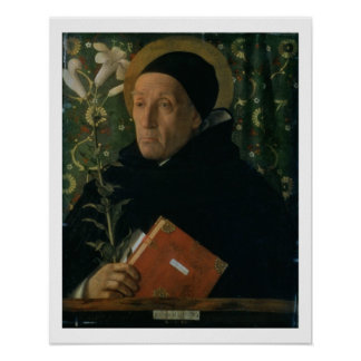 St. Dominic, 1515 (oil on canvas) Poster