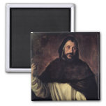 St. Dominic 2 Inch Square Magnet