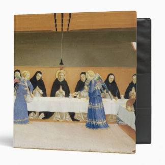 St. Dominic and his Companions Fed by Angels 3 Ring Binder