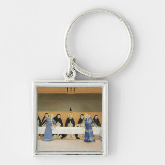 St. Dominic and his Companions Fed by Angels Keychain
