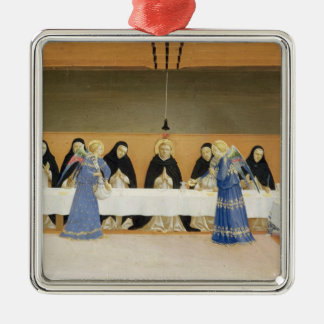 St. Dominic and his Companions Fed by Angels Metal Ornament