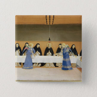 St. Dominic and his Companions Fed by Angels Pinback Button