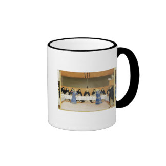 St. Dominic and his Companions Fed by Angels Ringer Mug