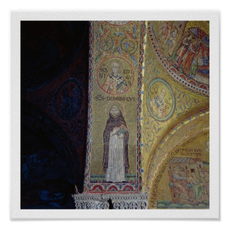 St. Dominic and St. Nicholas, mosaic in the atrium Poster