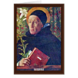 St. Dominic By Bellini Giovanni Greeting Cards