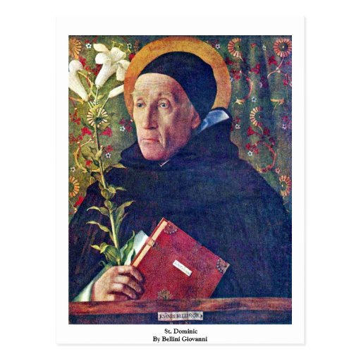 St. Dominic By Bellini Giovanni Postcards