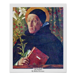 St. Dominic By Bellini Giovanni Poster
