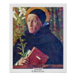St. Dominic By Bellini Giovanni Posters