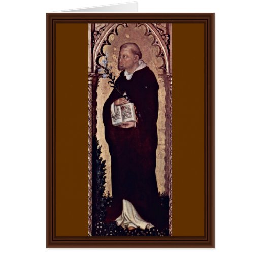 St. Dominic By Gentile Da Fabriano Greeting Card