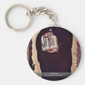 St. Dominic By Gentile Da Fabriano Key Chains