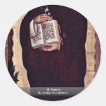 St. Dominic By Gentile Da Fabriano Round Stickers