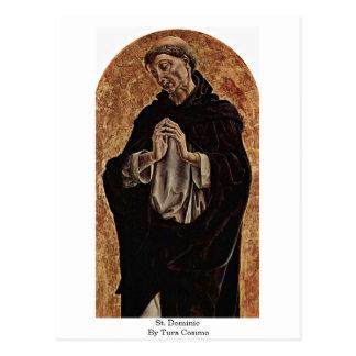 St. Dominic By Tura Cosimo Postcard