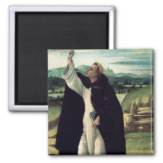 St. Dominic, c.1498-1505 2 Inch Square Magnet