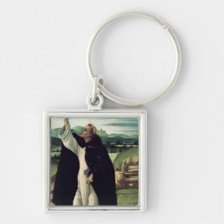 St. Dominic, c.1498-1505 Silver-Colored Square Keychain