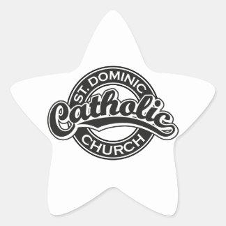 St. Dominic Catholic Church Black and White Star Sticker