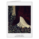 St. Dominic Detail By Gentile Da Fabriano Greeting Cards
