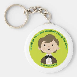 St. Dominic Savio Basic Round Button Keychain