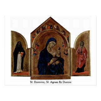 St Dominic, St. Inés por Duccio Postal