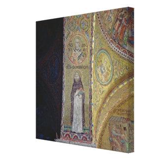 St Dominic y San Nicolás, mosaico en el atrio Lienzo Envuelto Para Galerias