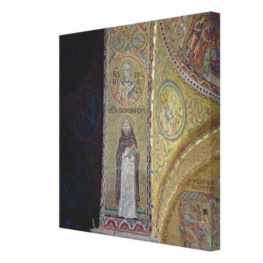 St Dominic y San Nicolás, mosaico en el atrio Impresión En Lona