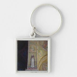 St Dominic y San Nicolás, mosaico en el atrio Llavero