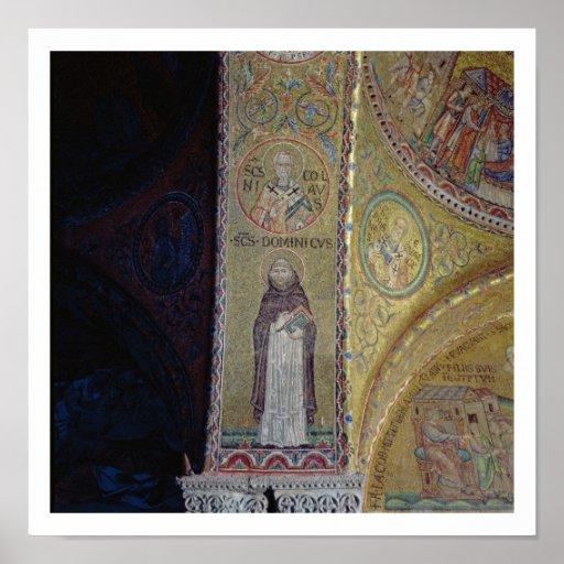 St Dominic y San Nicolás, mosaico en el atrio Posters