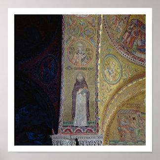 St Dominic y San Nicolás, mosaico en el atrio Póster