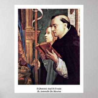 St Dominic y Santa Ursula de Antonello DA Messina Impresiones