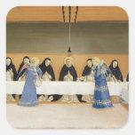 St Dominic y sus compañeros FED por ángeles Pegatina Cuadrada