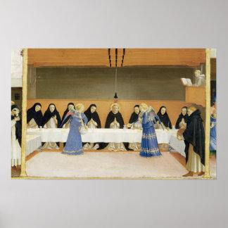 St Dominic y sus compañeros FED por ángeles Póster