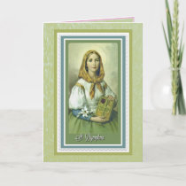 St. Dymphna Catholic Prayer Alzheimer Anxiety Card
