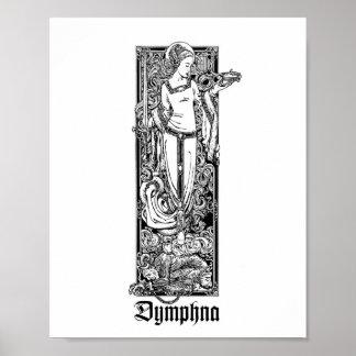 """St. Dymphna de Gheel 8"""" x 10"""" impresión Impresiones"""