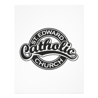 St. Edward Catholic Church Black and White Letterhead