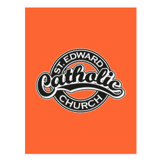 St. Edward Catholic Church Black and White Postcard