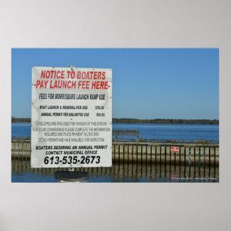 St. el río Lawrence - Morrisburg del lanzamiento d Impresiones