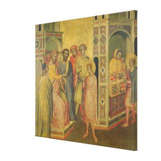 St. Eligius ante rey Clothar, c.1365 (aceite en el Impresion En Lona