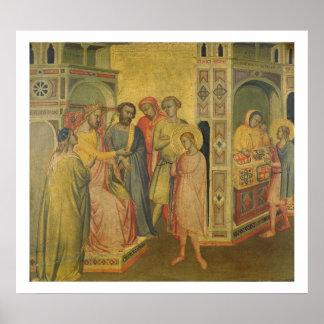 St. Eligius ante rey Clothar, c.1365 (aceite en el Póster