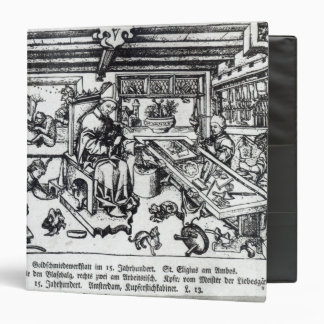 St. Eligius  as a goldsmith in his workshop Binder
