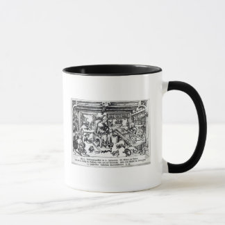 St. Eligius  as a goldsmith in his workshop Mug
