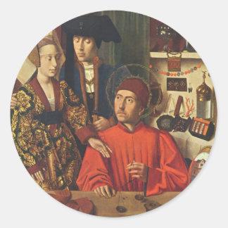 St Eligius as a Goldsmith Stickers