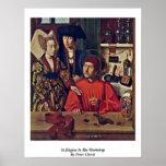 St.Eligius en su taller de Peter Cristo Impresiones