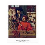 St.Eligius en su taller de Peter Cristo Tarjetas Postales