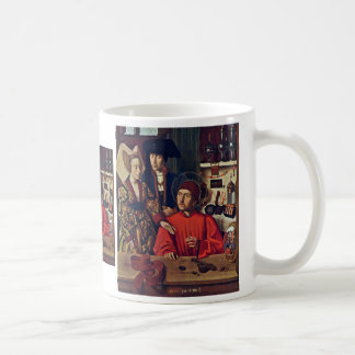 St Eligius In His Goldsmith Workshop By Christu Coffee Mug