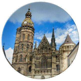 St. Elisabeth Cathedral in Kosice, Slovakia Porcelain Plate