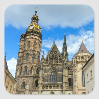 St. Elisabeth Cathedral in Kosice, Slovakia Square Sticker