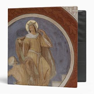 St. Elisabeth giving her Coat to a Beggar 3 Ring Binder