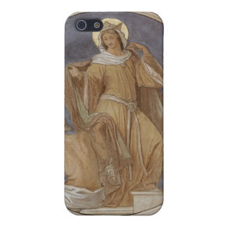 St. Elisabeth giving her Coat to a Beggar iPhone 5 Cases